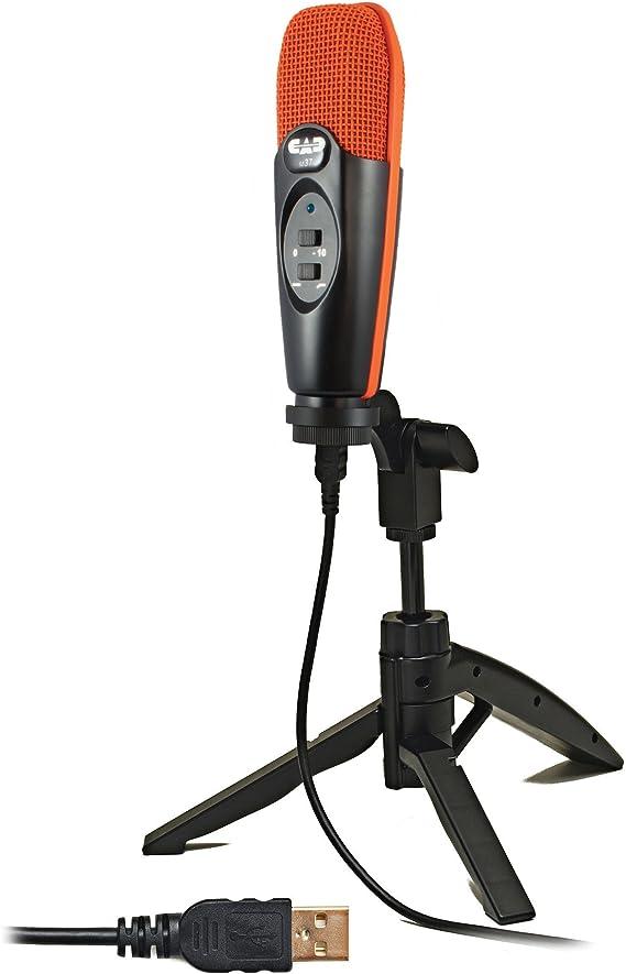 CAD Audio U37SE-OR USB Studio Condenser Recording Microphone