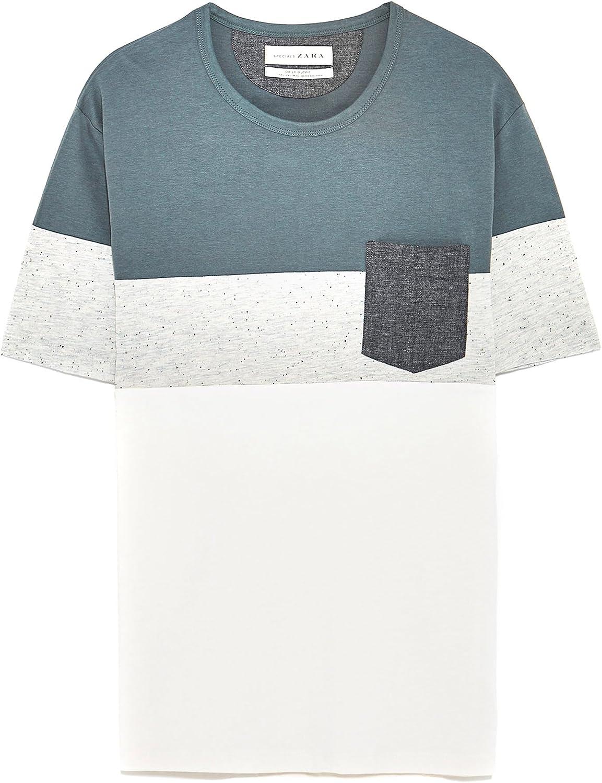 Zara - Camisa de vestir - para hombre gris gris Small: Amazon.es ...