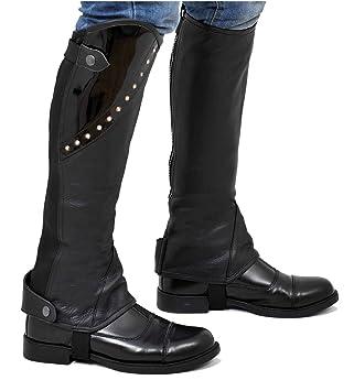 Gamaschen Riders Trend Mädchen Leder-Gamasche mit Kristallen Größe XL