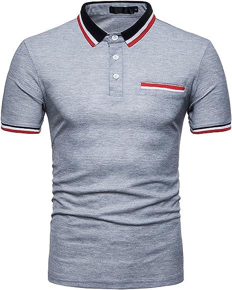 Camiseta Polo De Manga Corta para Hombre con Cuello De Polo ...
