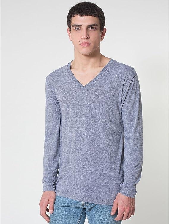 American Apparel Men Tri-Blend V-Neck T-Shirt