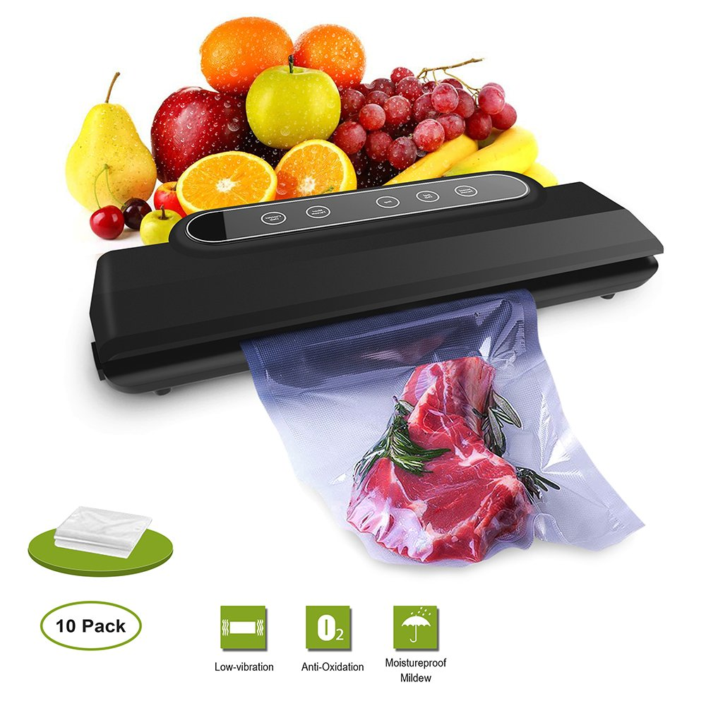 Vacuum Sealer Machine, Vacume Sealer Food Savers Vacuum Packing Automatic Sealing System/Starter Kit/10 Bags