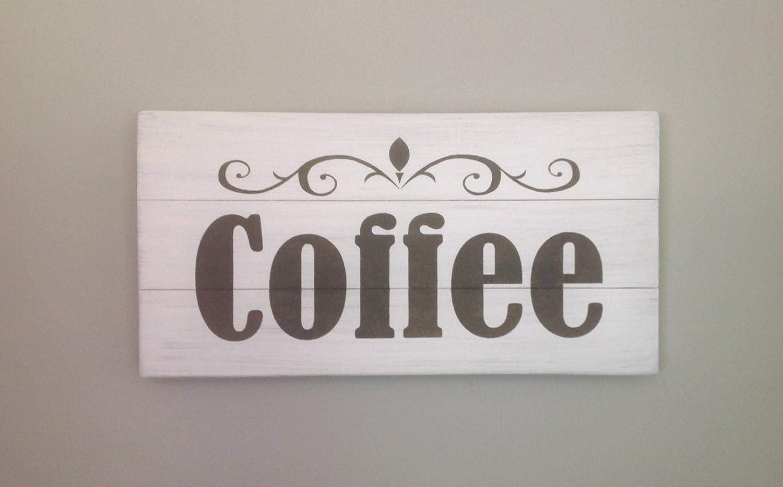 Enid18Bru - Cartel de café rústico, diseño de Palet de Madera ...