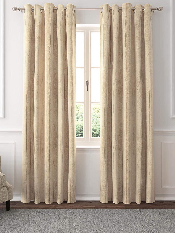 GMF Polyester Malaga Jacquard Woven Grommet Window Curtain Panel