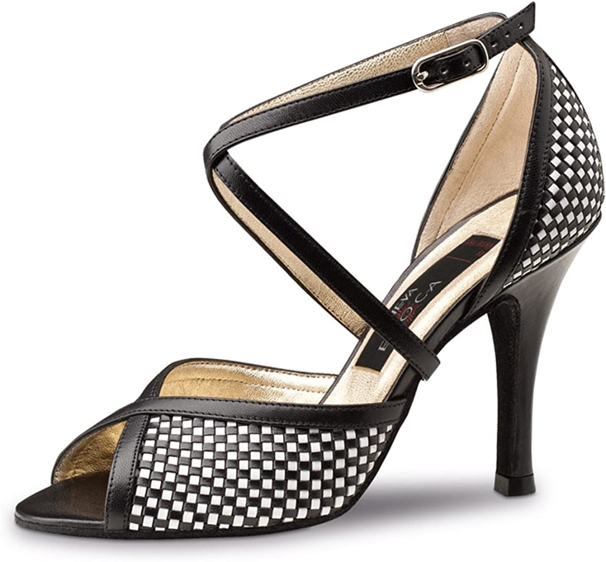 8 cm Stiletto Nueva Epoca Ladies Dance Shoes Joy Suede Black