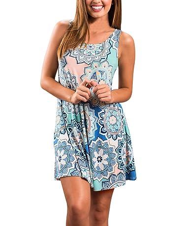 2d849fc0b1 LIMITA Sleeveless Dresses for Women Summer Boho Maxi Beach Floral Dress