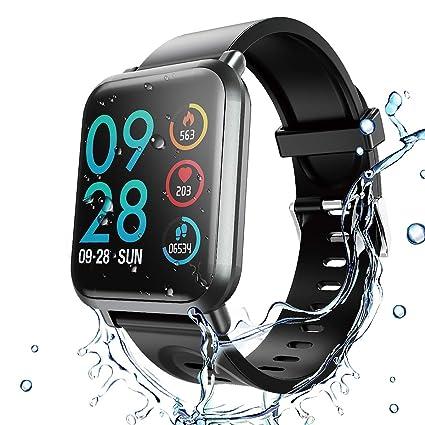 HopoFit Fitness Tracker HR,Smartwatch con Contador de Calorías,Podómetro, HF02 Rastreador de Actividad de Camuflaje con Monitor de Ritmo cardíaco y ...