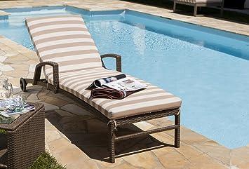 cuscino per lettino salina, colore rigato, giardino esterni ... - Lettini Prendisole Per Esterno
