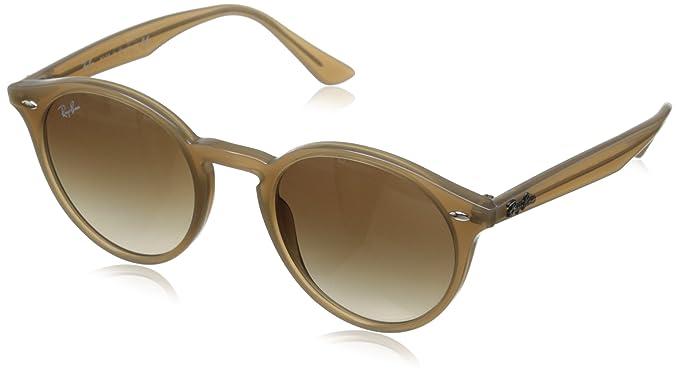 c1620ac166adc Óculos de Sol Round Stylish Ray Ban RB2180 Nude Translúcido Lente Tam 49