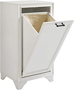 Crosley Furniture CF7009-WH Tara Linen Hamper, Vintage White