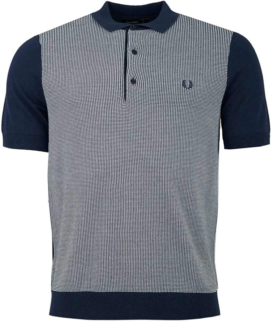 B07N7TYQ4C Fred Perry Men\'s Two-Color Knitted Shirt 71W73a%2BGcIL