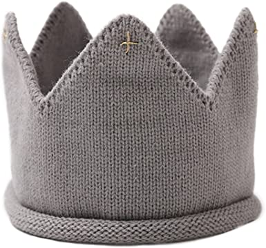 Photography Props Crown Knit Headband Hat Boys Girls Baby Kids Headwear