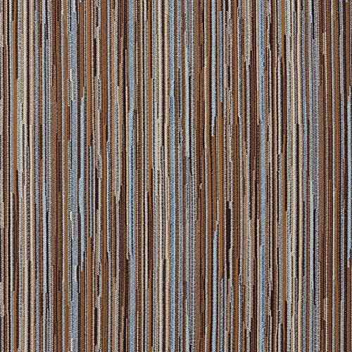 Aqua Beige and Brown Tan Mint Green Stripe Wood Contemporary Damask Upholstery Fabric by the ()
