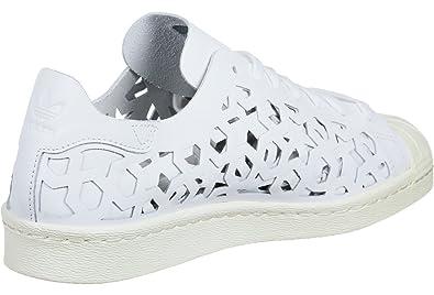 adidas Superstar 80 s Cut Out Damen Sneaker Weiß  Amazon.de  Schuhe    Handtaschen 740af6a69c