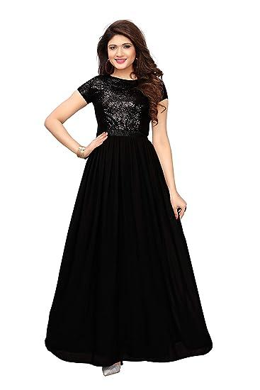 829e32687e Royal Export women's Black Georgette Gown (P2-ZSPP-E4Y7_Black_small)