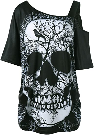 t-shirt tête de mort femme 3