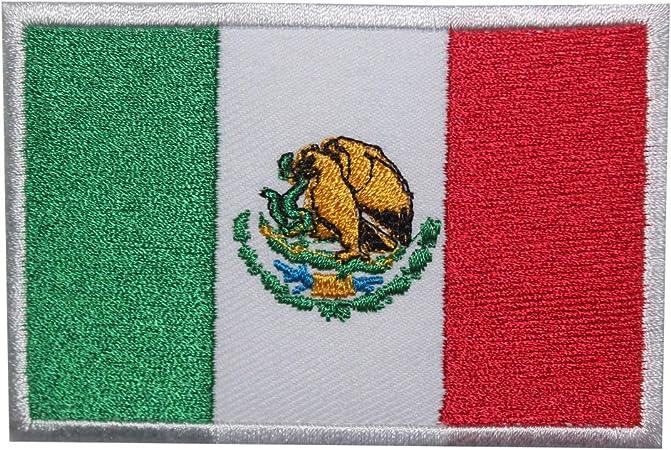 Parche bordado con la bandera de México para coser o planchar, para ropa, etc.: Amazon.es: Hogar