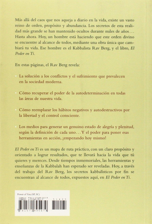 El Poder en Ti: The Power of You (Spanish Edition): Rav P. S. Berg:  9781571895479: Amazon.com: Books