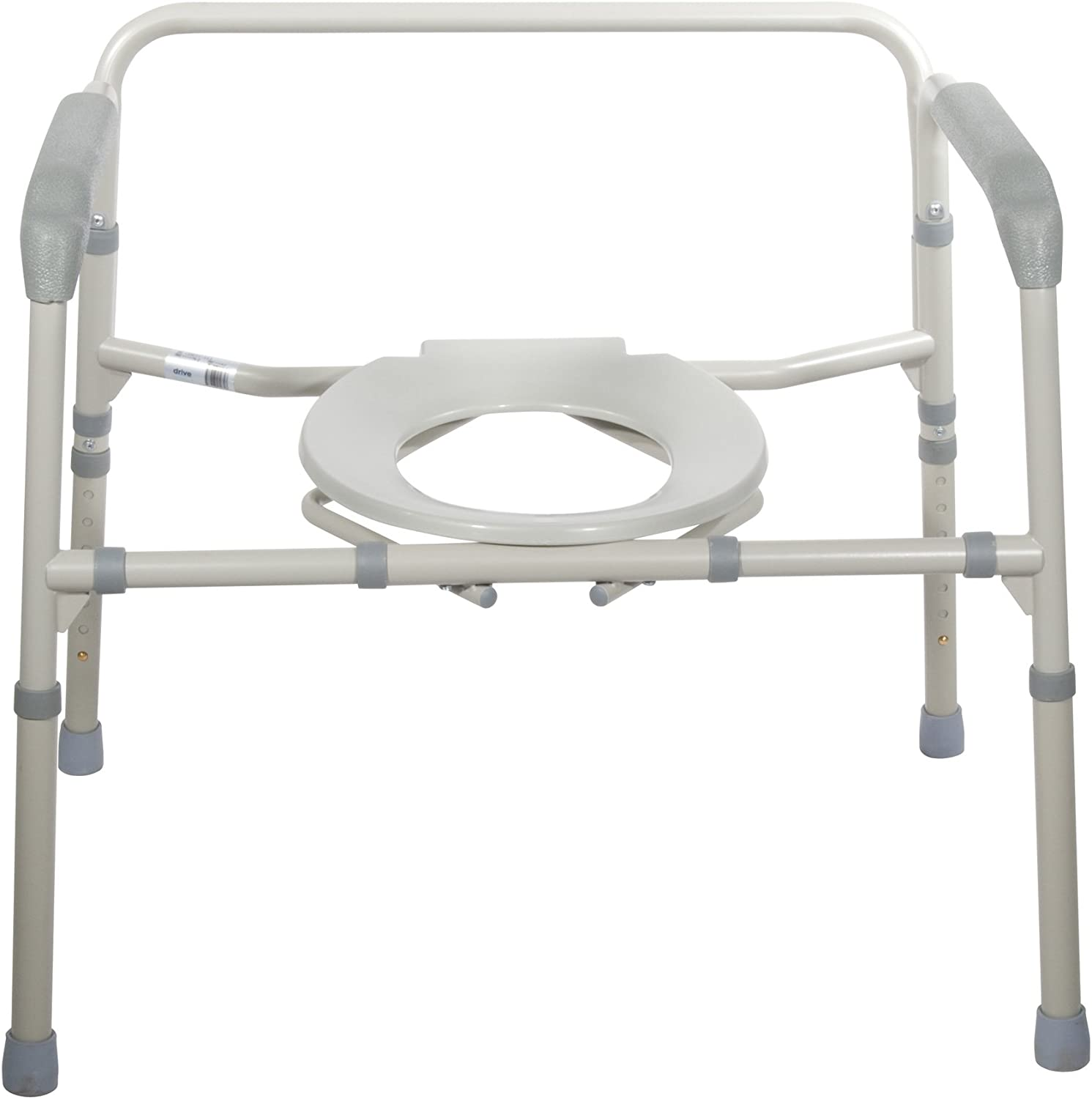 Drive Medical Heavy Duty Bariatric Folding Commode, Gray: Health & Personal Care