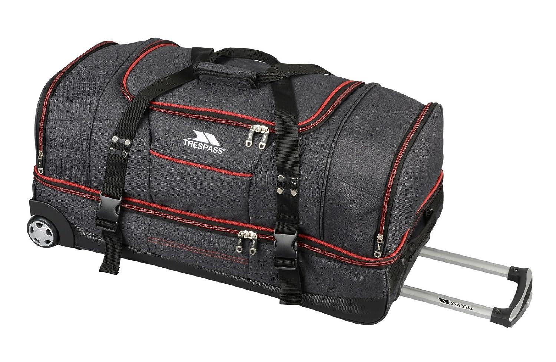 Trespass Galaxy Sac de voyage à roulettes/sac de sport deux niveaux , Bleu / Rouge , 72cm 043D