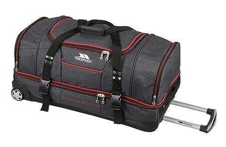 Trespass Galaxy - Bolsa de deporte y de viaje de dos pisos con ruedas Gris Grey / Red 82cm