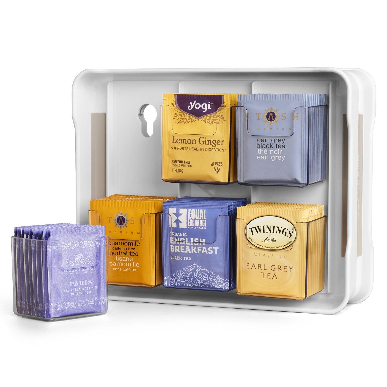 YouCopia 06121-31-WHT TeaStand 100+ Tea Bag Organizer, White by YouCopia