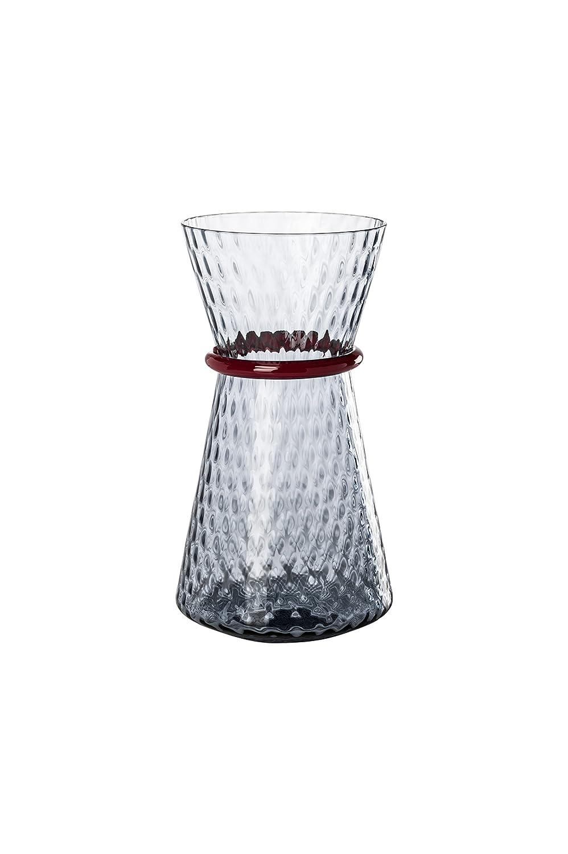 Venini vaso Tiara color Uva filo rubino H cm 32