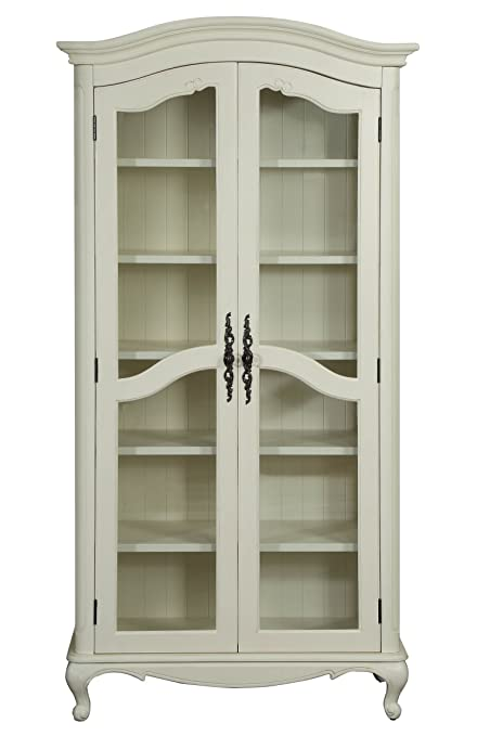 PROVENCE 2 GLASS DOORS BOOKCASE (ANTIQUE WHITE) - Amazon.com: PROVENCE 2 GLASS DOORS BOOKCASE (ANTIQUE WHITE): Kitchen