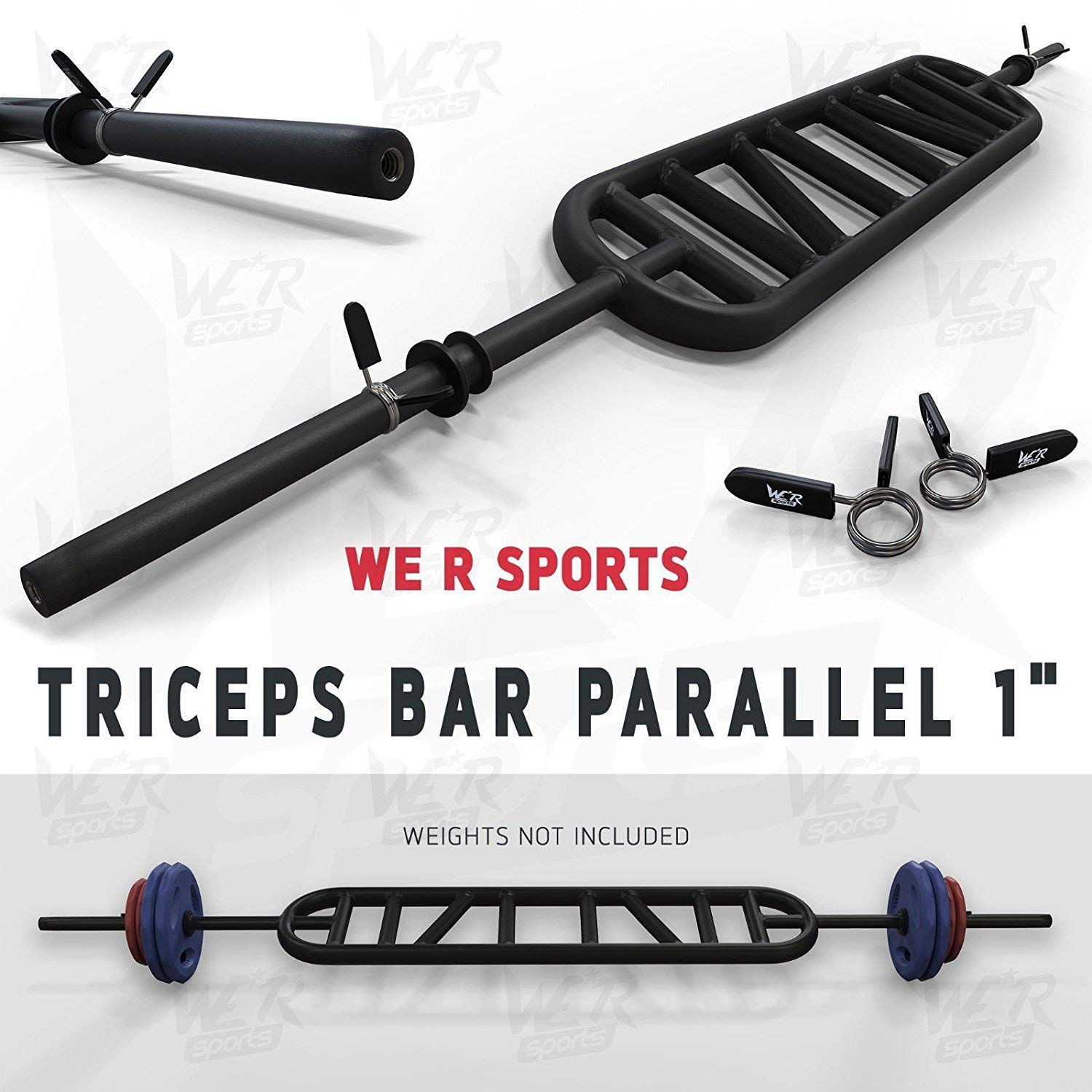 We R Sports Triceps Bar Parallel and Angled Handle Multi Grip Standard Bar 1
