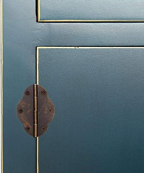 Consola de 3 cajones y 4 Puertas Oriental Azul de Madera para la ...
