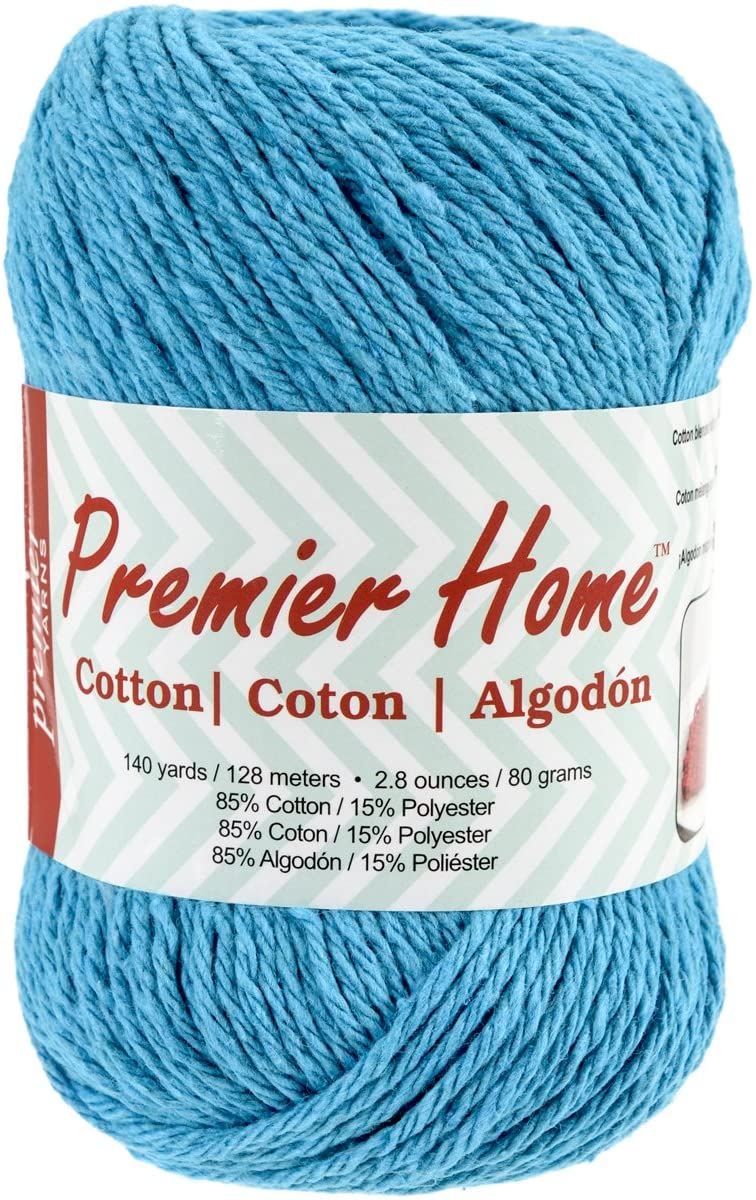 Premier Yarns Home Cotton Yarn, Solid Turquoise