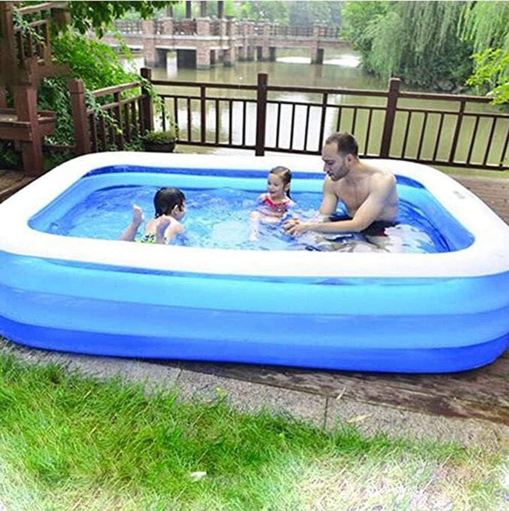 Familia piscina inflable, 210 × 160 × 60cm(Tamaños múltiples) de tamaño completo inflable Salón piscina for bebés, for niños, niños, adulto, infantil, niños pequeños for niños de 3 +, al aire libre, j
