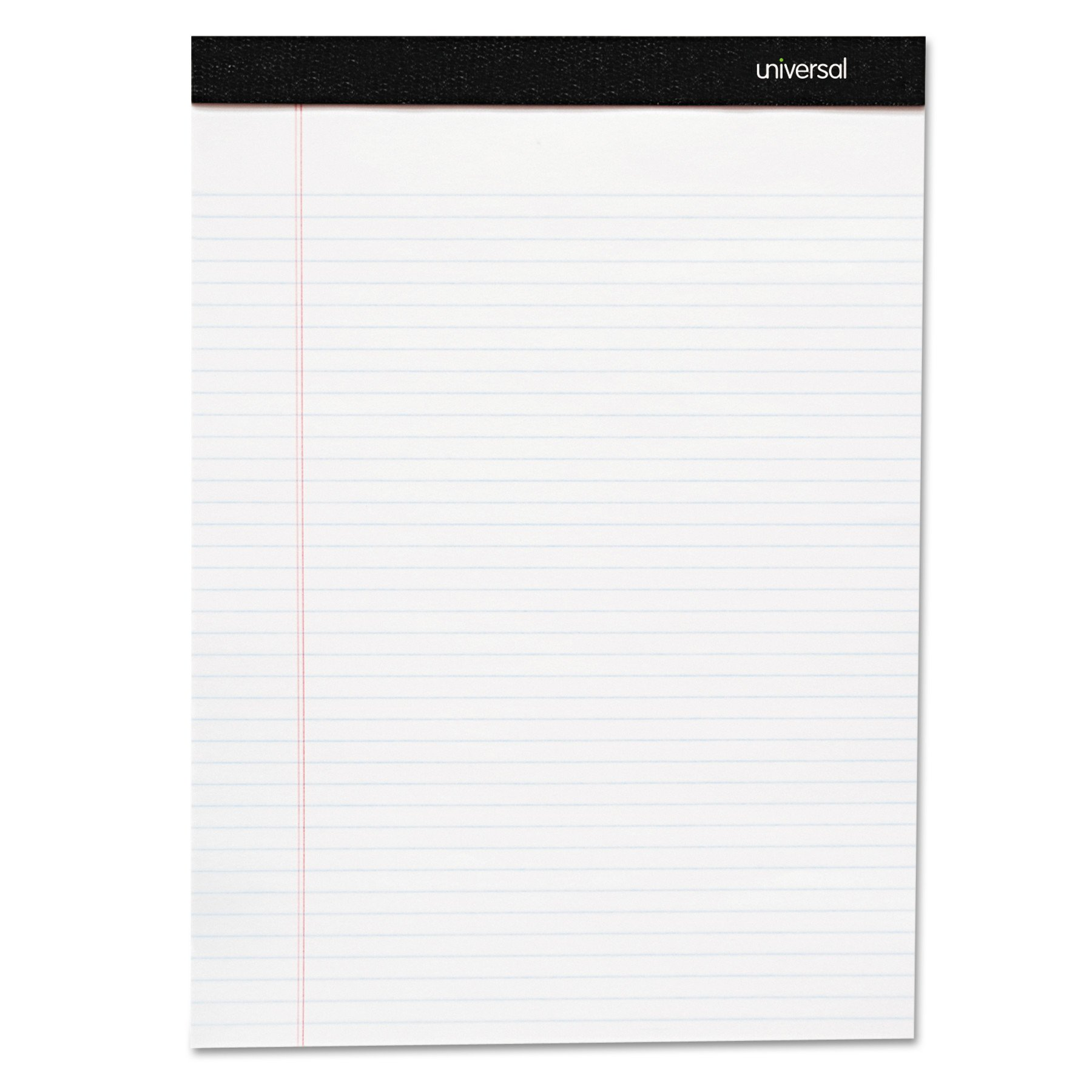 Universal 30630 Premium Ruled Writing Pads, White, 8 1/2 x 11, Legal/Wide, 50 Sheets (Pack of 6 Pads)