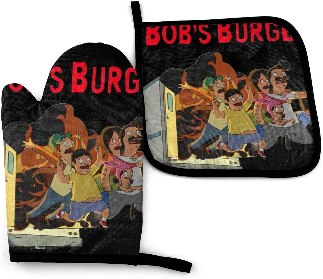 N/C Bob's Burgers Heat-Resistant Oven Gloves and Pot Set