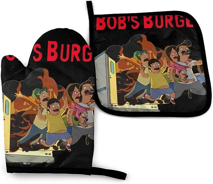 N/C Bob's Burgers Heat-Resistant Oven Gloves and Pot Set