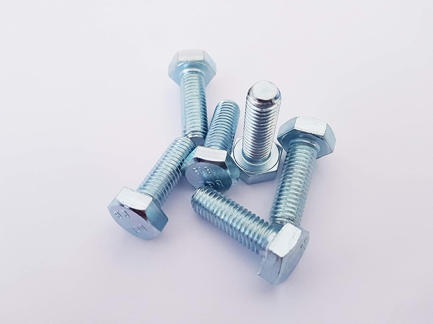 8mm x 16mm ZINC Plated HEX Bolts Pack of 20 M8 Fully Threaded SETSCREWS
