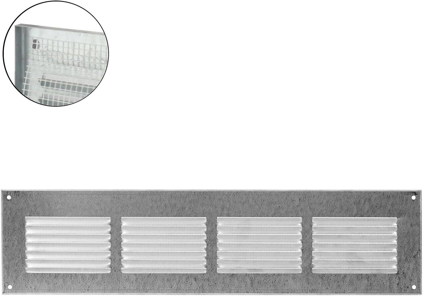 entr/ée et sortie d/'air Protection anti-insectes MKK Grille de ventilation murale en m/étal marron 18526