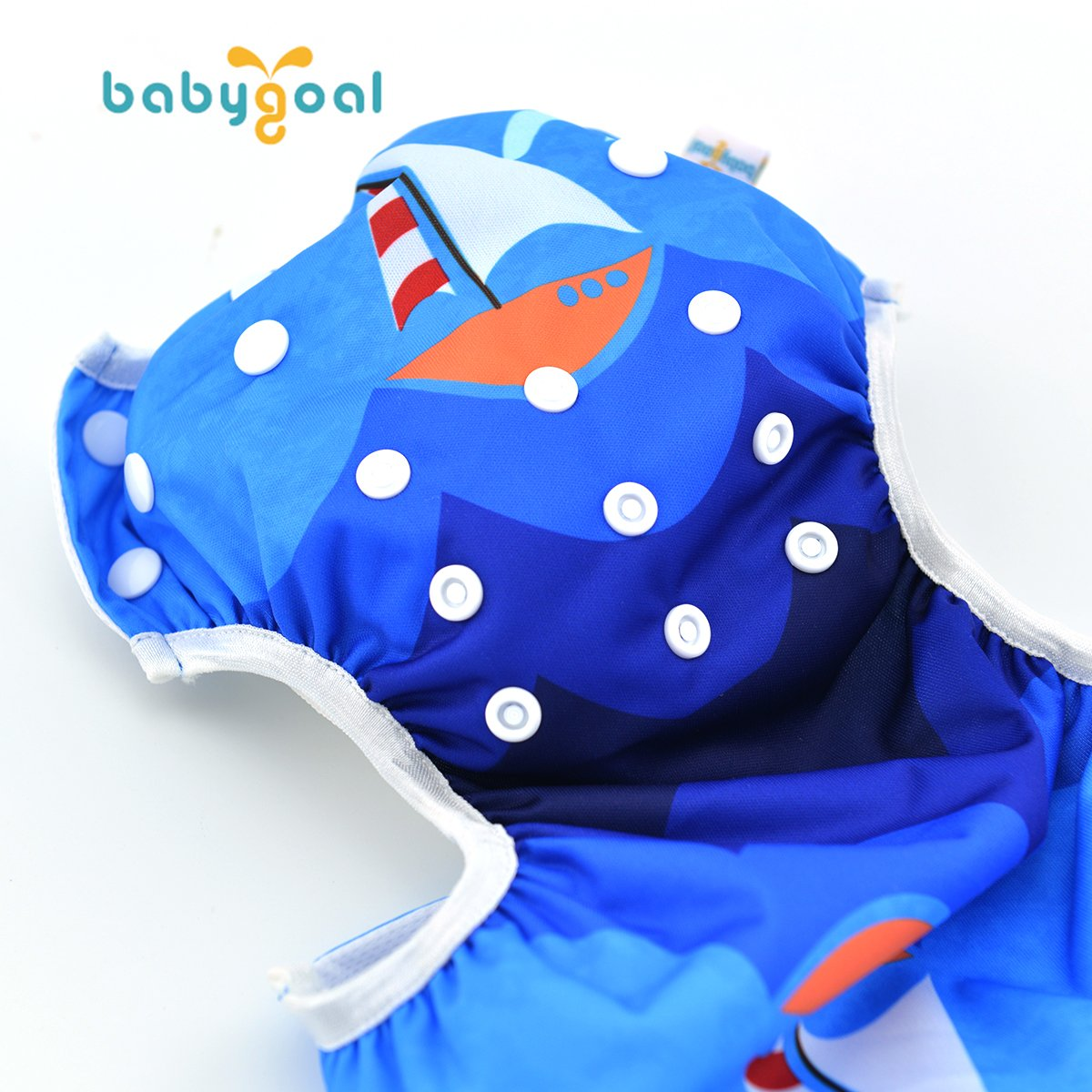 Babygoal Baby Swim diapers, Babygoal Reuseable Washable and Adjustable for Swimming, Outdoor Activities and Daily Use, Fit Babies 0-2 Years 2SWD4041-CA Huapin