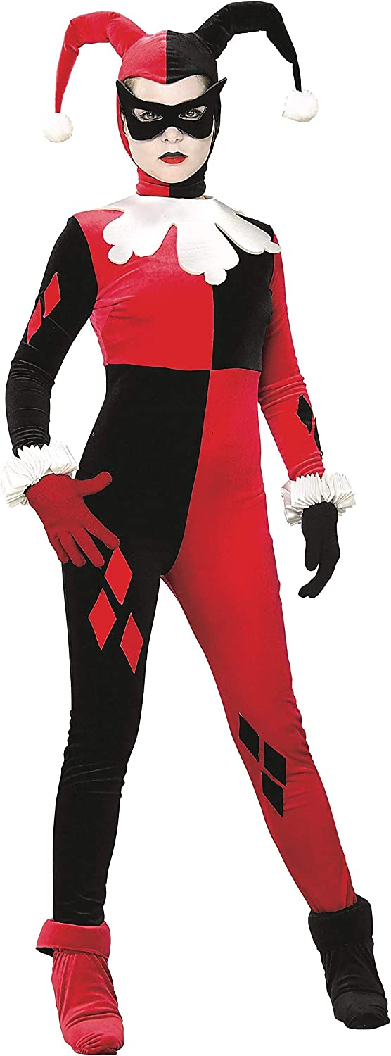 Rubies Womens DC Heroes and Villains Collection Harley Quinn Costume