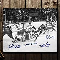 $69 » Johnny Bower, Eddie Shack, Bobby Baun & Brian Conacher Toronto Maple Leafs vs. Montreal 1967 Stanley Cup Finals Autographed 11x14