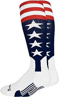 product image for MadSportsStuff USA Flag Baseball Patriotic Stirrups Socks with Stars and Stripes