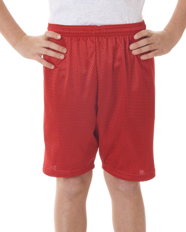 Badger Big Boys' Elastic Waist Solid Tricot Liner Mesh Shorts 2207