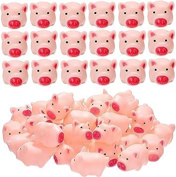 40 Pezzi Mini Maiali in Gomma Bagno Maiale Giocattoli Rosa Bagno Giocattoli per Ragazzi Ragazze Balneazione Favori