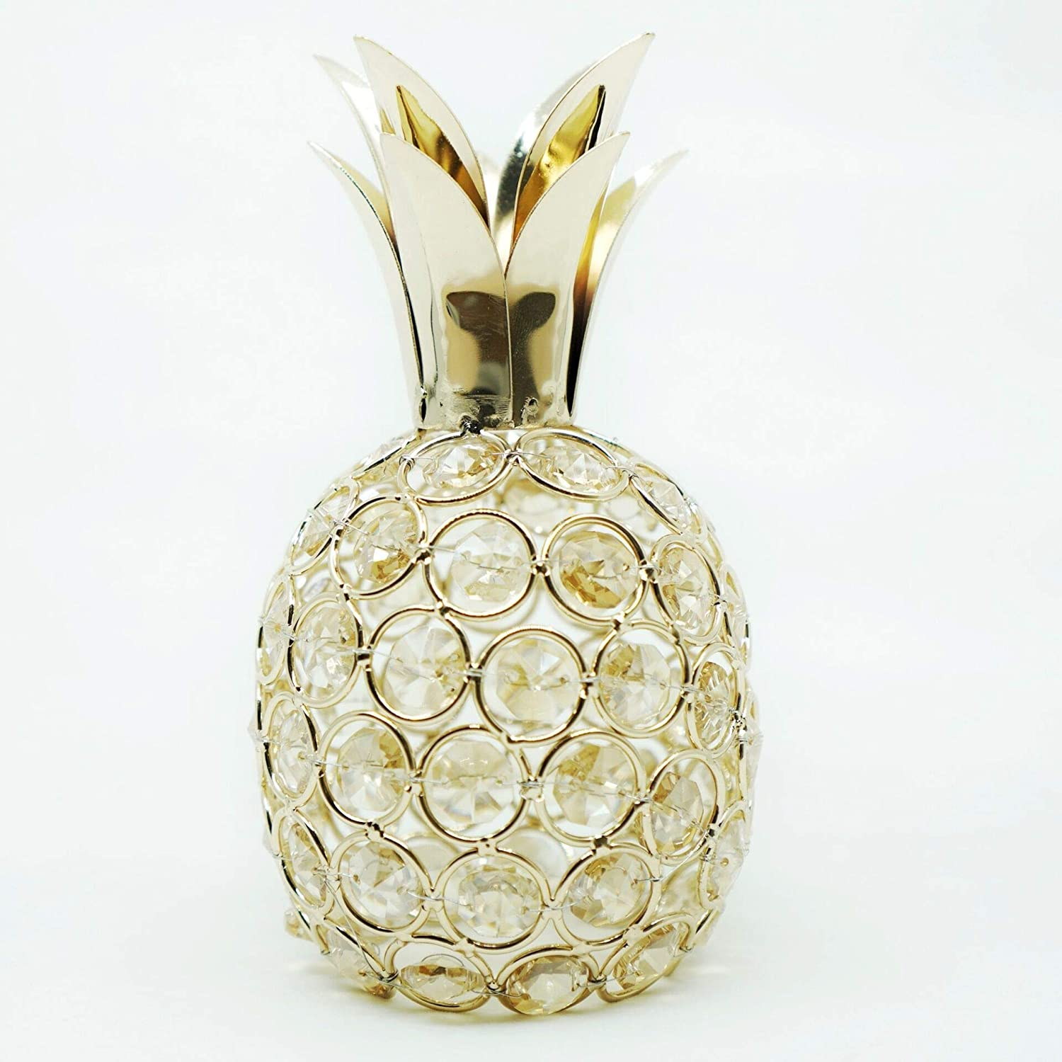 Artificial Fruit Ornament Table Decor, Crystal Fruit Gift (Pineapple)