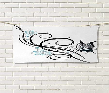 Anniutwo Tatuaje, Toalla, diseño de Calavera de Cabra con líneas ...