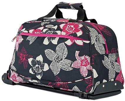 Bolsa de viaje Pequeña con ruedas para mujer hombre niño niña (4413 Negro)