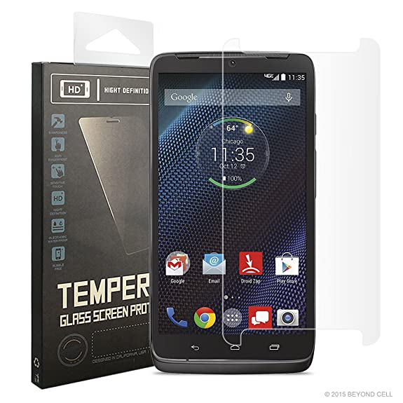 Beyond Cell®Droid Turbo 2 Tempered Glass, Droid Kinzie XT1585 tempered glass Premium Protection
