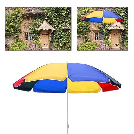 Ombrelloni Da Giardino Resistenti Al Vento.Hengda Ombrellone Giardino Parasole Anti Raggi Uv 1 8m