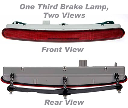 APDTY 034366 Third 3rd Center High Mount Brake Light Lamp Assembly Fits  1998 2010 Volkswagen