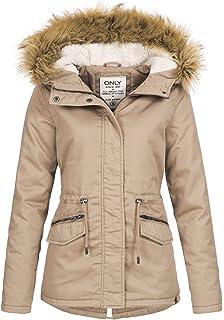 8978310b3970 ONLY Damen Jacke Onlleeona Canvas Parka Jacket Cc OTW  Amazon.de ...